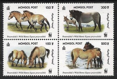 [Mong031]  Mongolia 2000 Wildlife Worldwide Fund Issue  (022) MNH