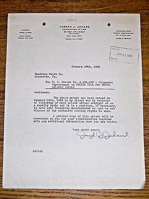 1938 Hamilton Watch Company Employee Original Public Submitted Idea Letter #26