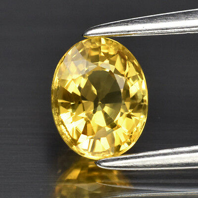 Top VVS! 0.95ct 6x4.7mm Oval Natural Yellow Sapphire, Thailand
