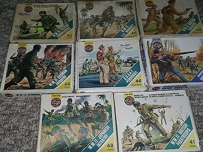 vintage airfix sealed soldiers collection shrink wrapped mib 1/72 scale lot