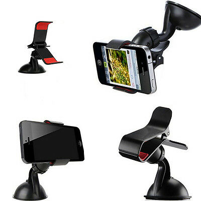 Universal 360°Rotating Car Windshield Mount Stand Holder For Mobile Phone GPS TO