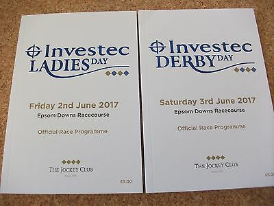 Epsom 2017 Derby & Oaks Racecards  - Wings Of Eagles & Enable