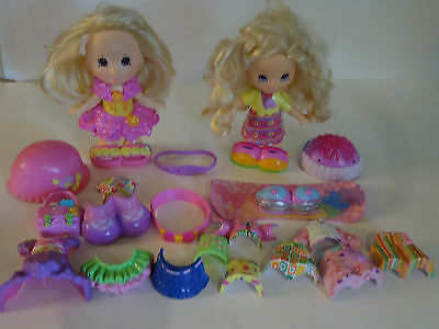 Fisher Price Snap N Style Doll Lot Clothes Dress Accessories Toys Blond Hair