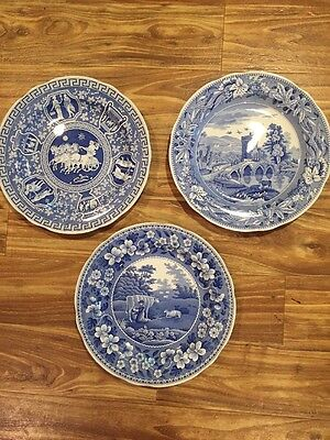 SPODE CHINA - BLUE ROOM COLLECTION - 3 DINNER PLATES Etc