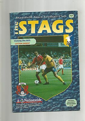 Mansfield Town v Orient 11th September 1999 VGC