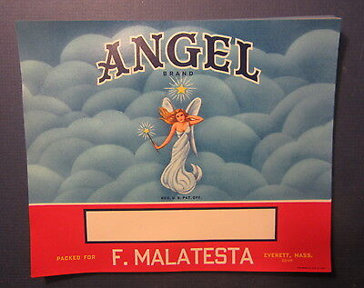 Wholesale Lot of 50 Old 1960's ANGEL Brand CRATE LABELS - STOCK - Everett MASS.