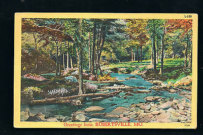 Greetings from scenic Robertsville - Route 66 - Postmarked 1950 Robertsville Mo