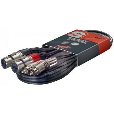 Stagg RCA Male to XLR Female Twin Cable 3m