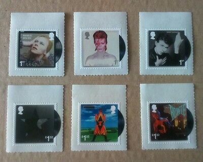 A Mint Set of DAVID BOWIE Stamps Royal Mail x 6 stamps