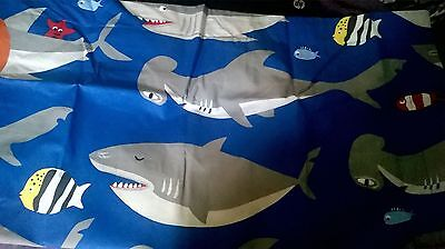 New Pottery Barn Kids Blue SHARK Standard SHAM 2016 fish 🐟 Pillowcase