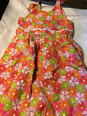 Girl's NAA LILY Summer Dress Pink Orange Green White size 6X