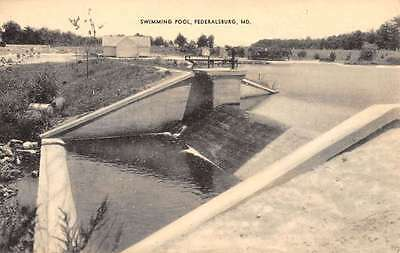 Federalsburg Maryland Swimming Pool Waterfront Antique Postcard K66954