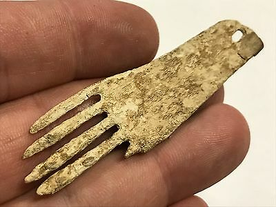 Extremely Rare Bone Comb Pendant Found In Graves Co Kentucky Indian Artifact