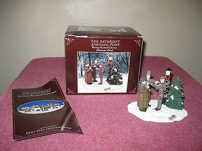 """Norman Rockwell Collection Figurine """"christmas Carol"""" - Saturday Evening Post"""