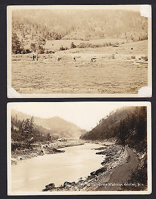 2-Idaho-Orofino-Greer-Clearwater River-Real Photo-Antique Postcard Lot