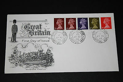 GB QEII Stamps 1969 Definitive FDC with COIL/STRIP of 5 Values, DARTFORD Canc