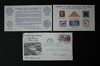 GB QEII Stamps 1960 SG619 3d LILAC, Commemorative FDC - POSTBOY of 1660, used