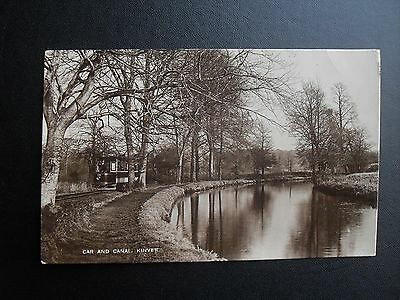 Car and Canal Kinver Early Real Photo Postcard - postmark Harborne 1913