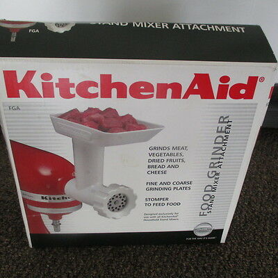 New KitchenAid FGA Food Grinder Attachment for Stand Mixer Attachment