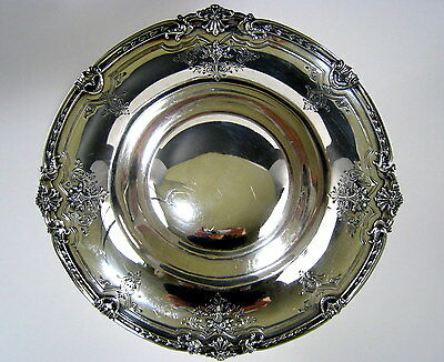 Lg Sterling Silver Pedestal Bowl c.1910 Antique Basket Flowers Edwardian Serving