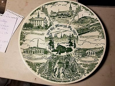 Vintage St. Marys Pa Historical Society Plate No. 1 First In A Series