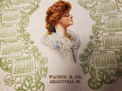 Watson And Co Kellettville Pa 1909 Advertising Plate