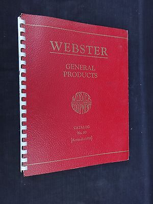 Vtg 1958 Webster Manufacturing General Products Catalog No. 80 Tiffin, Ohio Nice