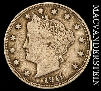 1911 Liberty Nickel- Scarce !! Very Fine !!  #u252