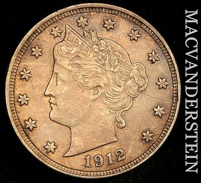 1912 Liberty Nickel- Lustrous !! Almost Uncirculated !!  #u253