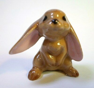 Vintage HAGEN RENAKER LOP EARRED BUNNY RABBIT Brown Big Floppy Ears White Tail