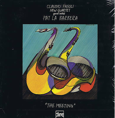 CLAUDIO FASOLI - PAT LA BARBERA the Meeting LP DIRE jazz Italy sigillato sealed