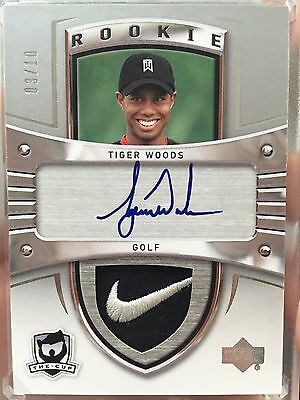 2009-10 The Cup - Tiger Woods - 05-06 Crosby Tribute Auto Rookie Patch /10 NIKE