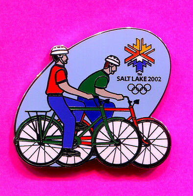 2002 Olympic Pin Salt Lake City Cycling Pin