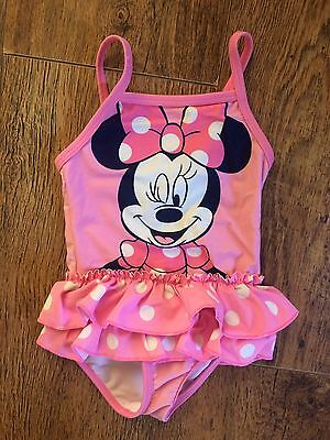 Minnie Mouse Pink Swimming Costume 9-12m