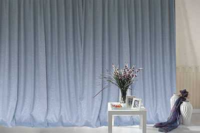 Blockout Curtains 530x230cm PINCH PLEAT 2 panel Blackout High Level Fabric
