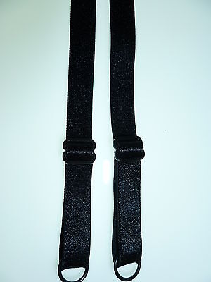 10mm  BLACK  BRA STRAPS  5 PAIRS FOR ONLY £2.50 post free