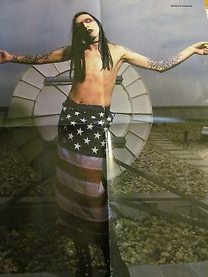 Marilyn Manson, Motley Crue, Double Four Page Foldout Poster