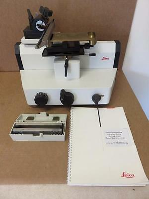 Leica SM2000R Sliding Microtome 045333784 with (2) Fixed Blades & Manual