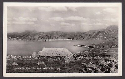 Postcard Gruinard Bay from Sand in Wester Ross Highland Scotland posted 1960 RP