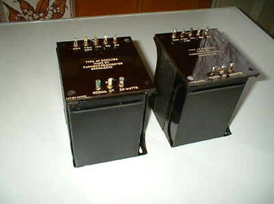 Pair Parmeko output transformers 4000 ohm CT for PX4 push pull,7.5/15 ohm 25W