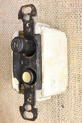Push Button Light Switch tested old vintage mother of pearl single pole H&H