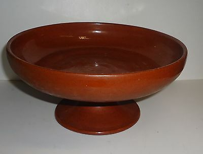 Redware Red Ware Hand Turned Pottery Footed Dish Compote North Carlolina