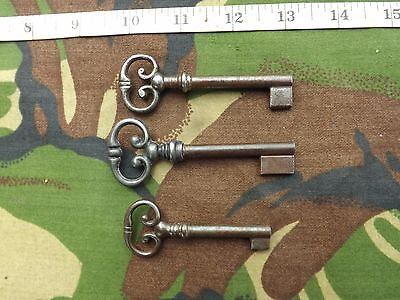 Lot of 3 Old Antique French Cabinet Keys