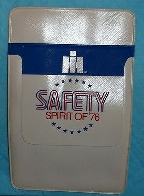 Ih International Harvester Safety Spirit Of 76 Pocket Pen/pencil Protector