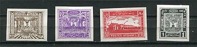 Afganistan 1932  Sc 263-6 note Inperf Proofs on Ungumed Chalky Paper a2977b