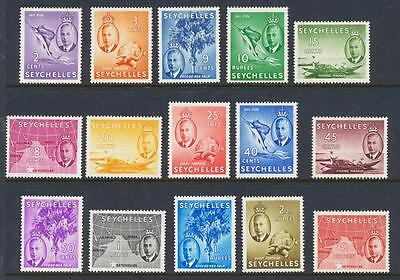 Seychelles 1952 Set, Vf Lh Og Sg#158-72 (See Below)