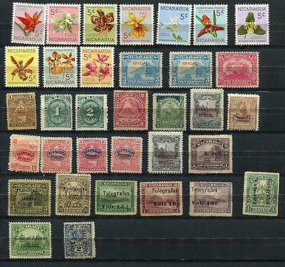 Nicaragua 1898 and up Accumulation Used/ Unused Some Overprint n2961