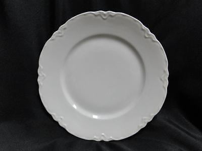 "Hutschenreuther Racine, White: Dinner Plate (s) LHS Backstamp, 9 3/4"" to 9 7/8"""