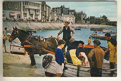 A Post Card of St. Ives, Cornwall, Transferring the Catch