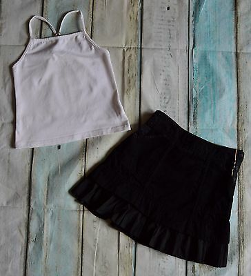 Girls Burberry Designer Clothes Bundle Black Skirt White Vest 6 Years Vgc